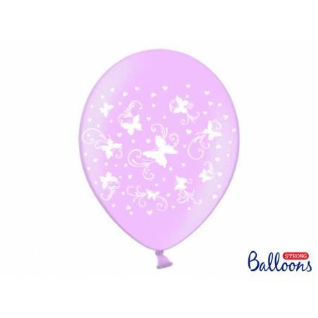 Ballons 30cm papillons rose bonbon