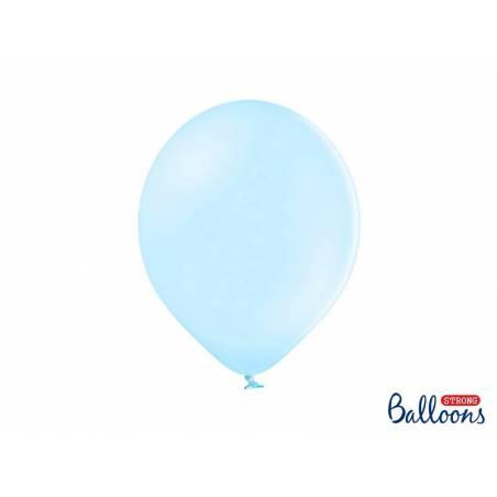 Ballons forts 30cm bleu clair pastel
