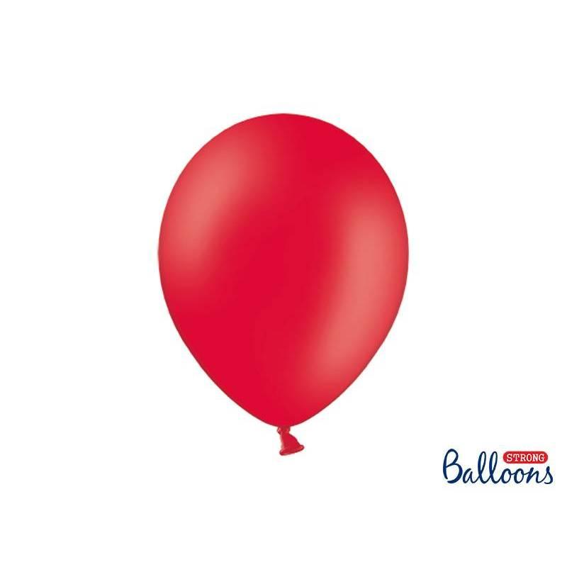 Ballons forts 30cm rouge pavot pastel