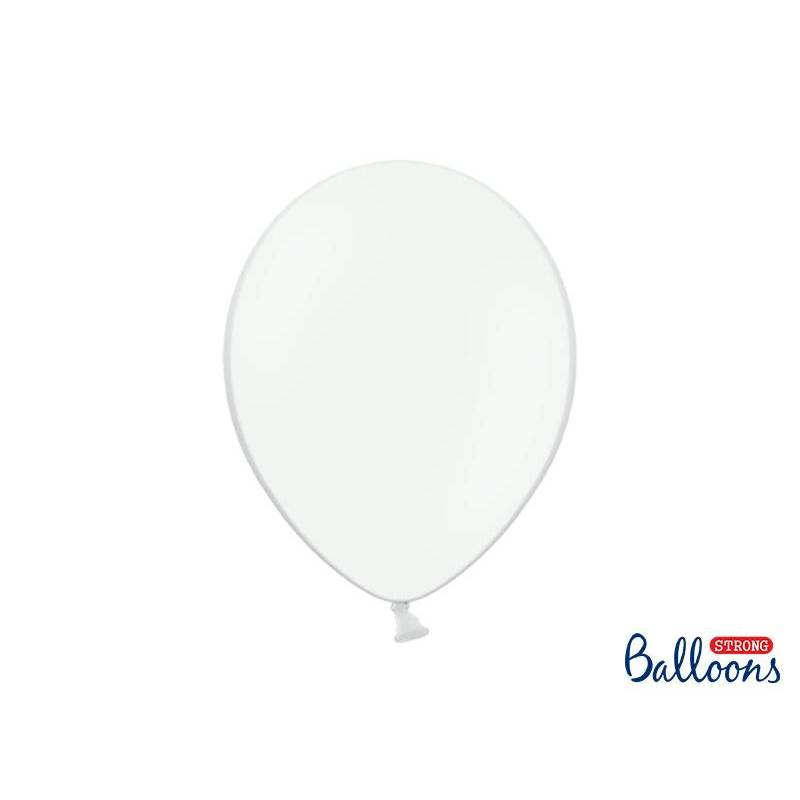Ballons forts 30cm blanc pur pastel