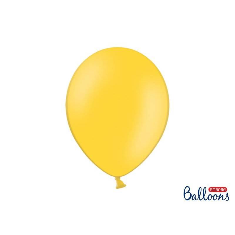 Ballons forts 30cm jaune miel pastel