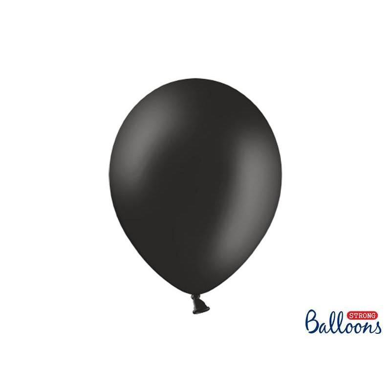 Ballons forts 30cm noir pastel