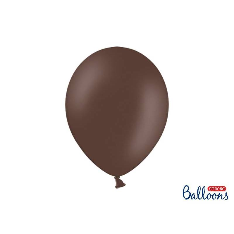 Ballons forts 30cm brun cacao pastel