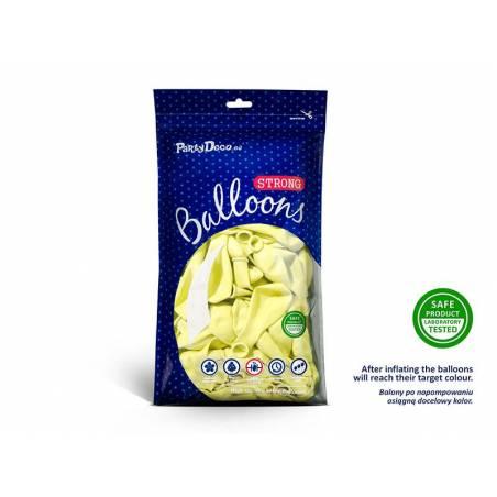 Ballons forts 30cm jaune pâle pastel