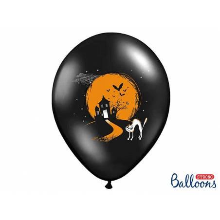 Ballons 30cm Ghost Noir Pastel