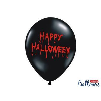 Ballons 30cm Happy Halloween Noir Pastel
