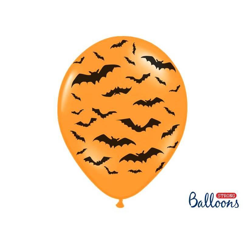 Ballons 30cm Chauves-souris Pastel M. Orange