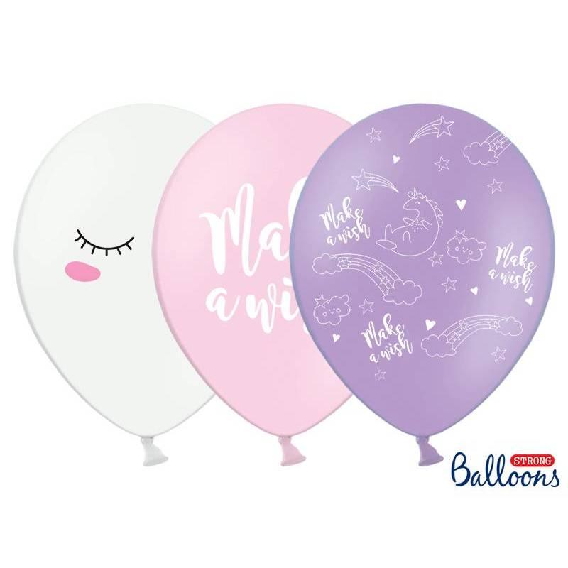 Ballons 30cm Licorne mélanger