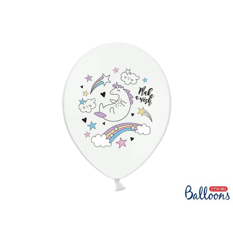 Ballons 30cm Licorne Pastel Blanc Pur