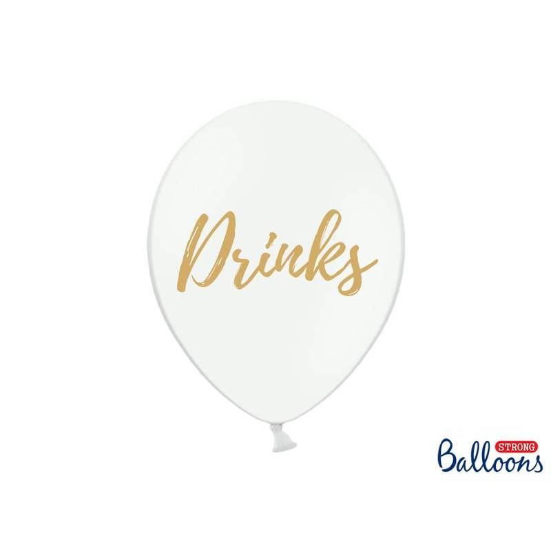 Ballons 30cm boissons pastel blanc pur