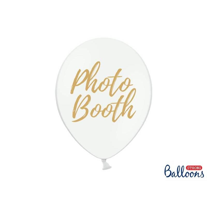 Ballons 30cm Photo Booth Pastel Blanc pur