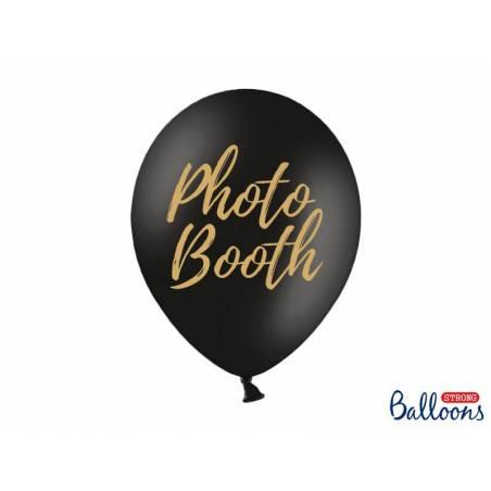 Ballons 30cm photomaton noir pastel