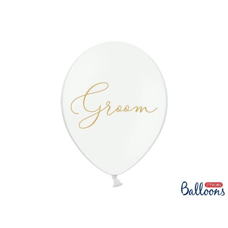 Ballons 30cm Marié Pastel Blanc pur