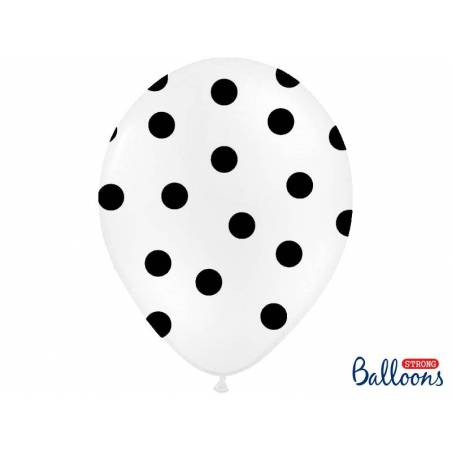 Ballons 30cm pois pastel blanc pur