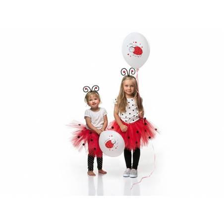 Ballons 30cm Coccinelles Pastel Blanc Pur