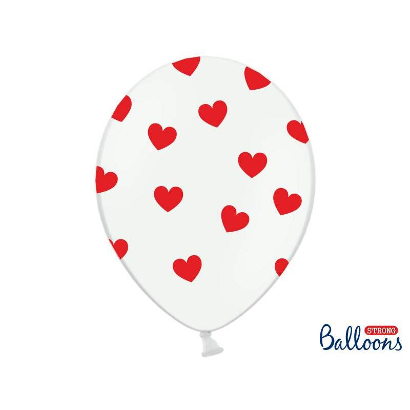 Ballons 30cm Coeurs Pastel Blanc Pur