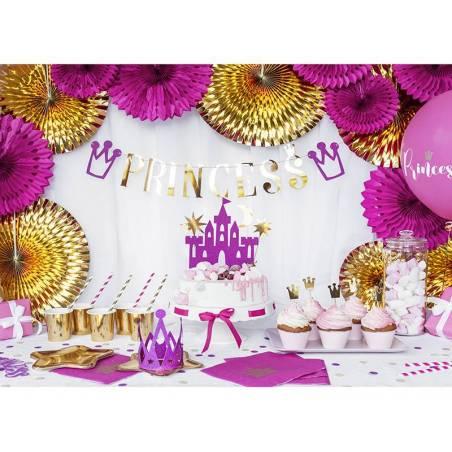 Ballons 30cm princesse rose vif pastel