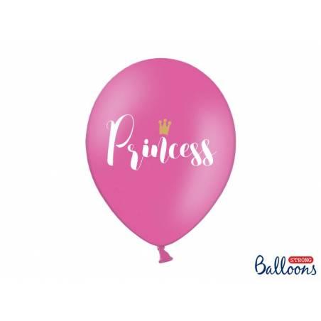 Ballons 30cm princesse rose chaud pastel