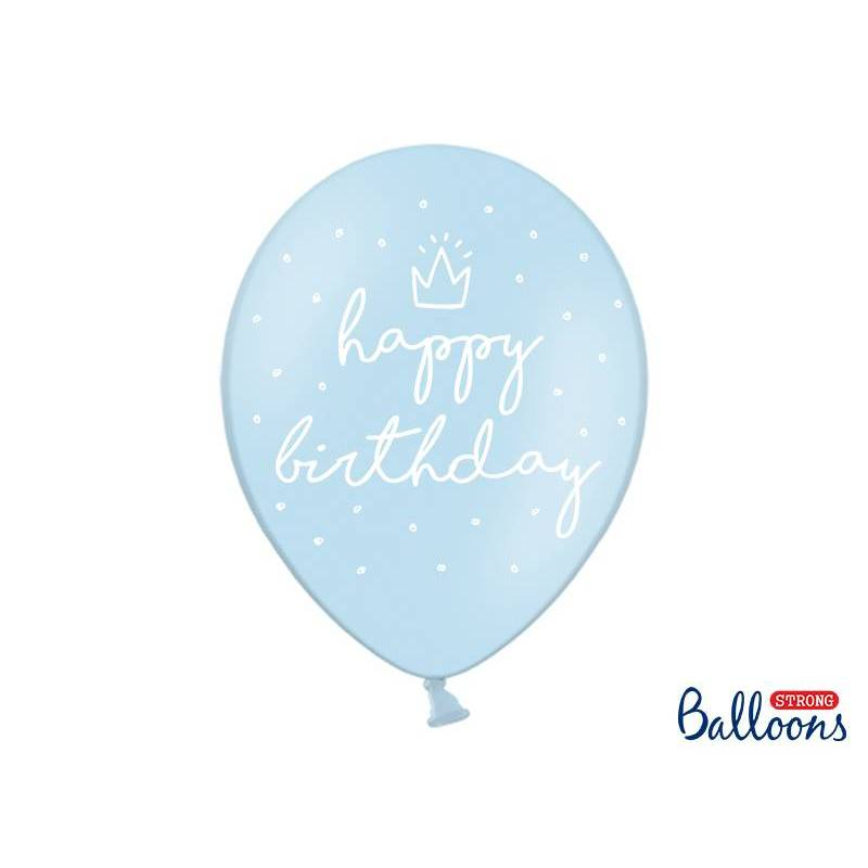 Ballons forts 30cm heureux ... P. B. Bleu
