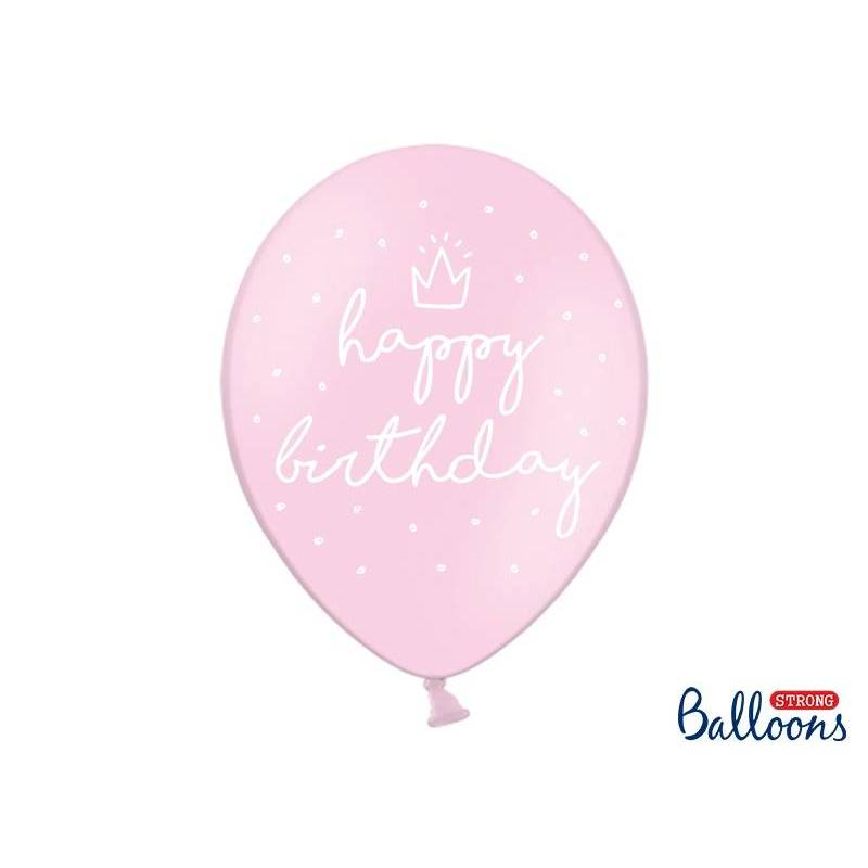Ballons forts 30cm heureux ... P. B. Pink