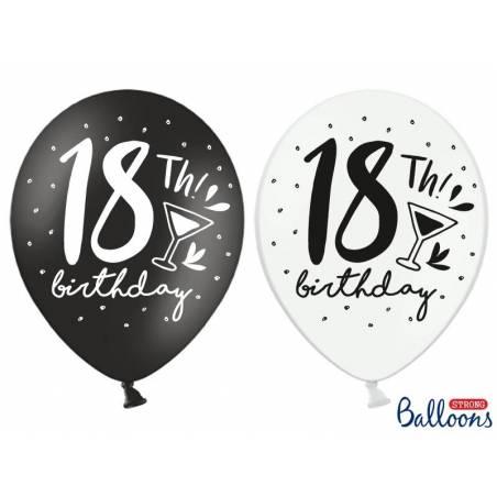 Ballons forts 30cm 18ème! Anniversaire mélange