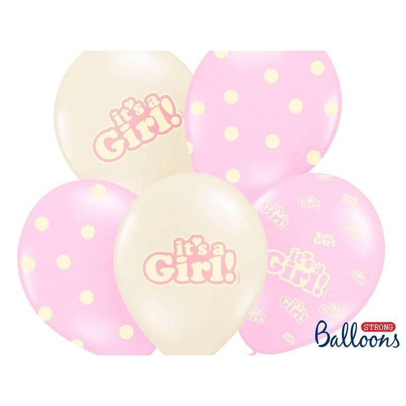 Ballons 30cm c'est une fille mélange pastel