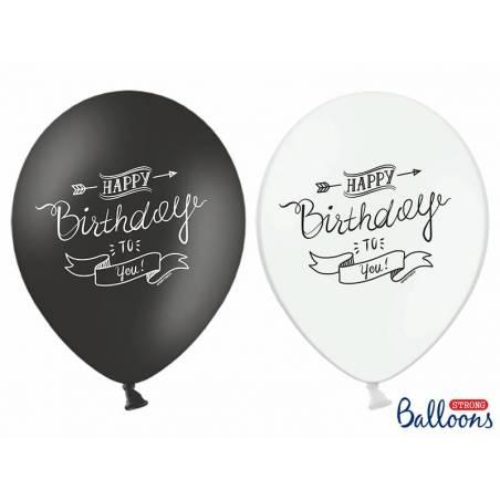 Ballons 30cm Joyeux Anniversaire Mélange Pastel