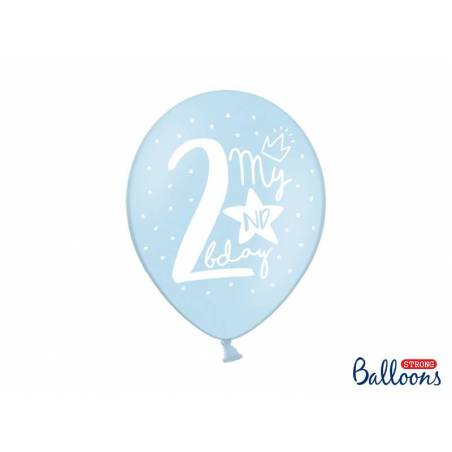 Ballons forts 30cm mon 2ème anniversaire mélanger