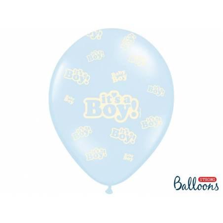 Ballons 30cm c'est un garçon Pastel Baby Blue