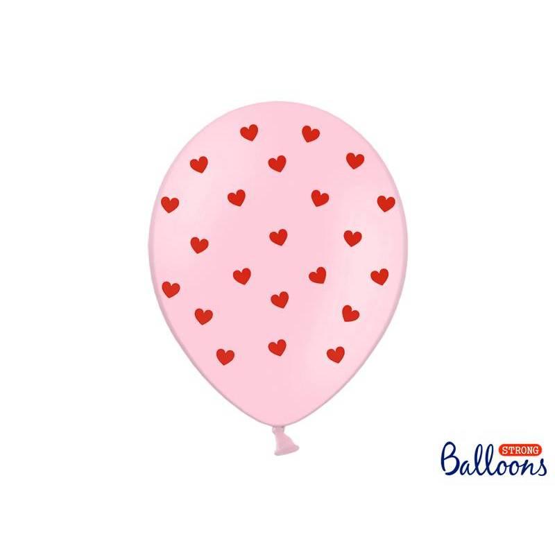Ballons 30 cm coeurs rose pastel