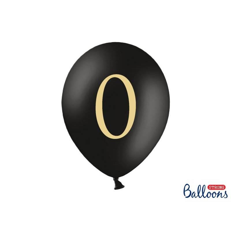 Ballons 30cm 0 Noir Pastel
