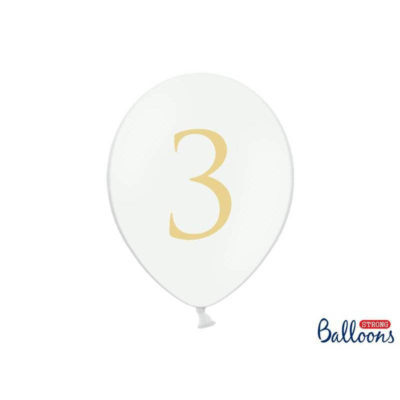 Ballons 30cm 3 Blanc Pur Pastel