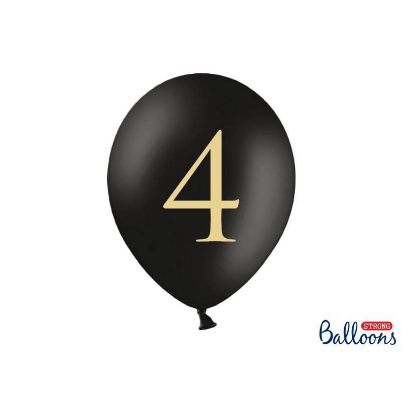 Ballons 30cm 4 Noir Pastel