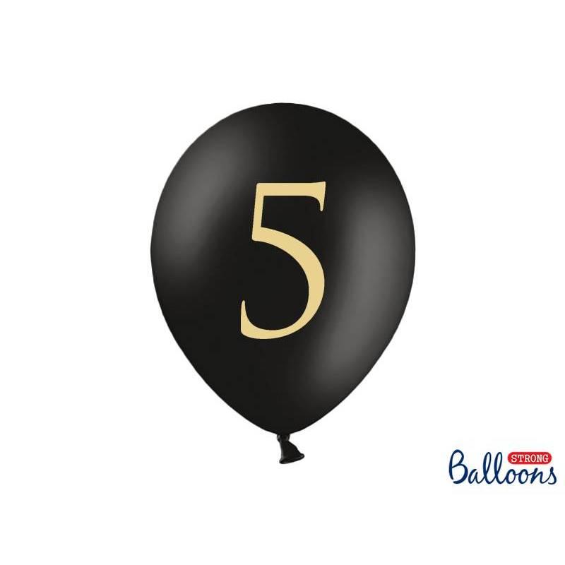 Ballons 30cm 5 Noir Pastel
