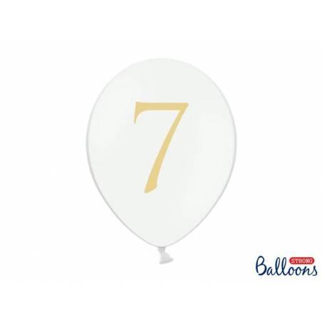 Ballons 30cm 7 Pastel Blanc Pur