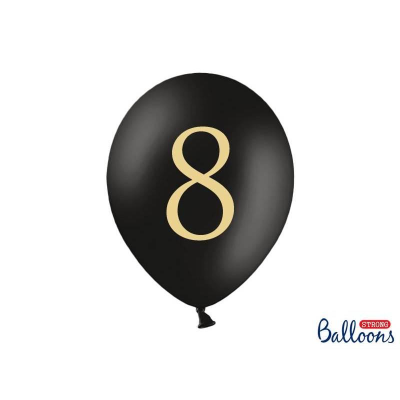 Ballons 30cm 8 Noir Pastel