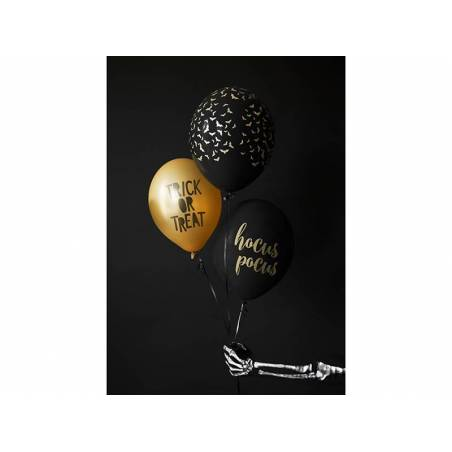 Ballons 30 cm Trick or Treat orange mandarine pastel