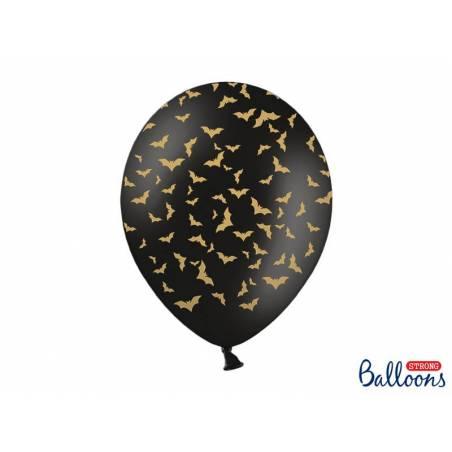 Ballons 30 cm chauves-souris noir pastel