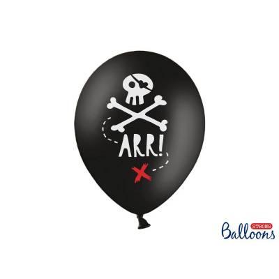 Ballons 30cm Pirates Party Noir Pastel