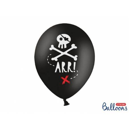 Ballons 30cm Pirates Party Noir Pastel