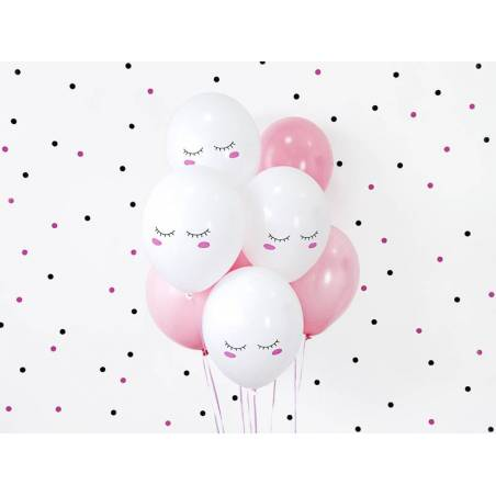 Ballons 30cm Smiley Pastel Pure White