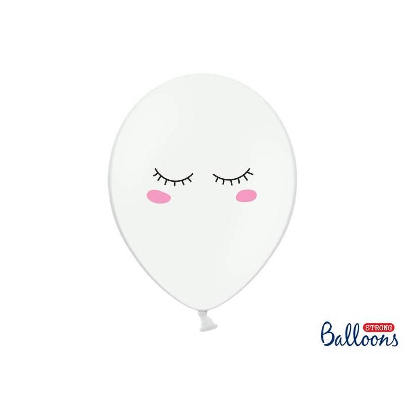 Ballons 30cm Smiley Pastel Blanc pur