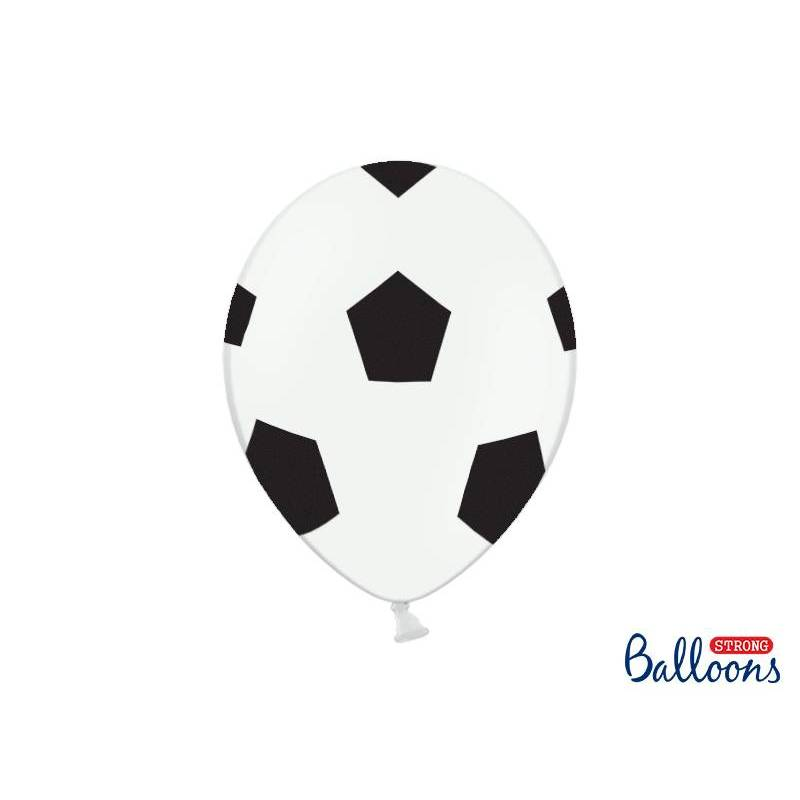 Ballons 30cm football blanc pur
