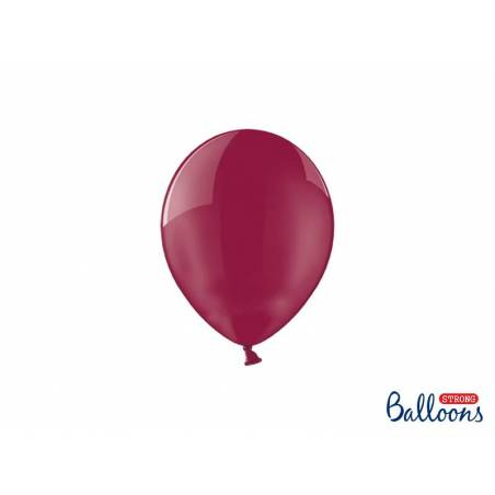 Ballons forts 12cm Crystal Maroon