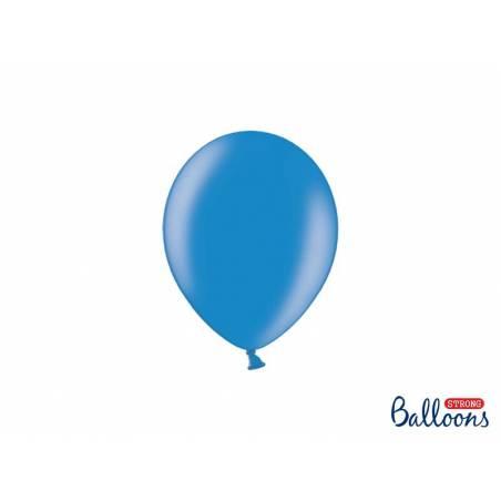 Ballons forts 12cm bleuet métallique bleuet