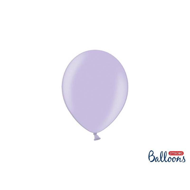 Ballons forts 12cm glycines métalliques