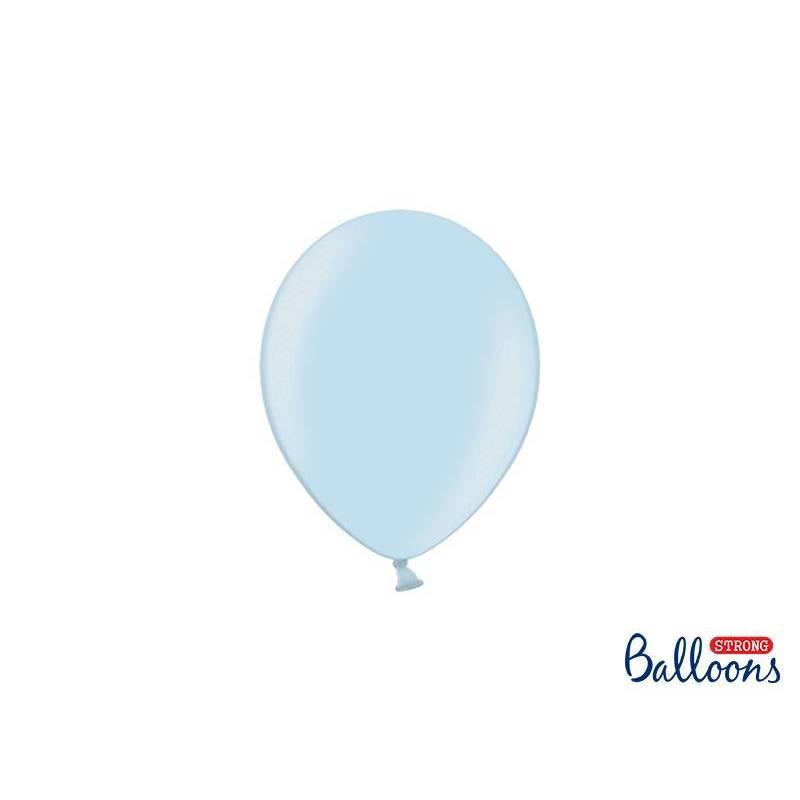 Ballons forts 12cm bleu métallisé métallisé