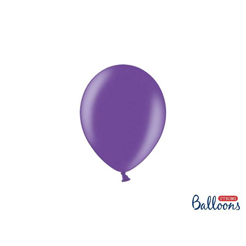 Ballons forts 12cm violet métallique