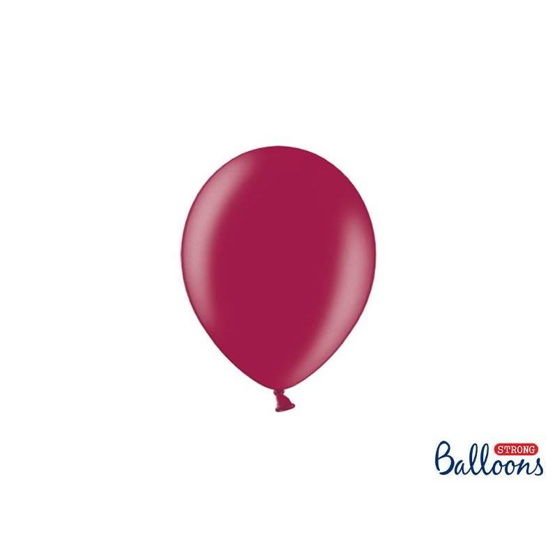 Ballons forts 12cm Bordeaux métallisé