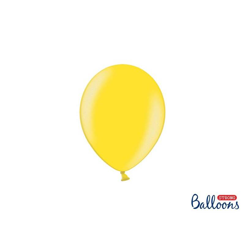 Ballons forts 12cm zeste de citron métallique